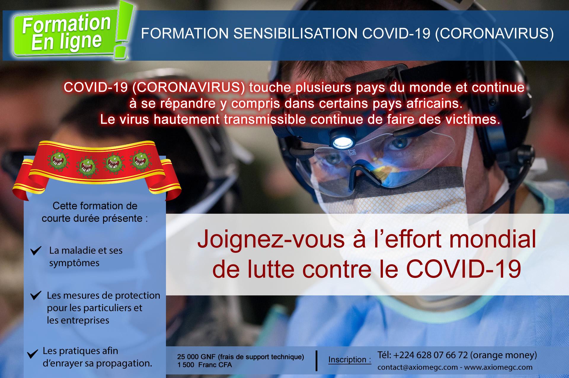 Formation COVID-19 (Coronavirus)