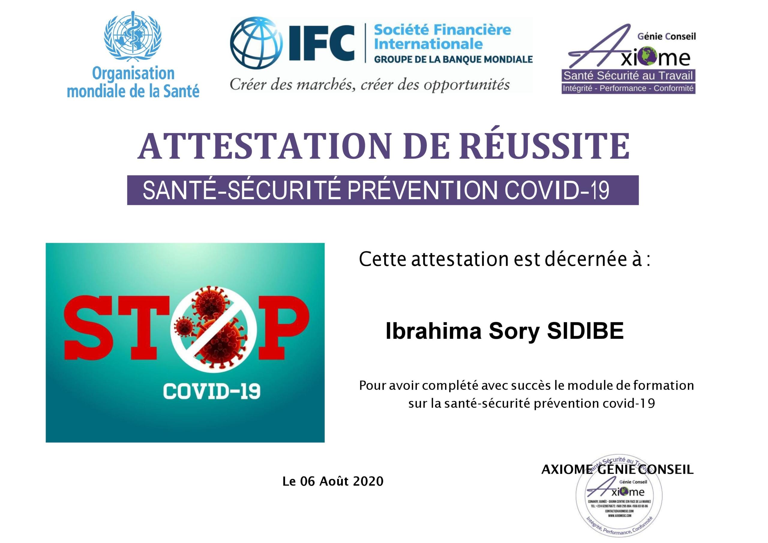 Santé Sécurité Prévention Covid-19